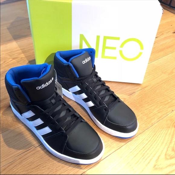fashion authorized site promo codes Men's Adidas Neo Hoops vs Mid black blue white NEW NWT